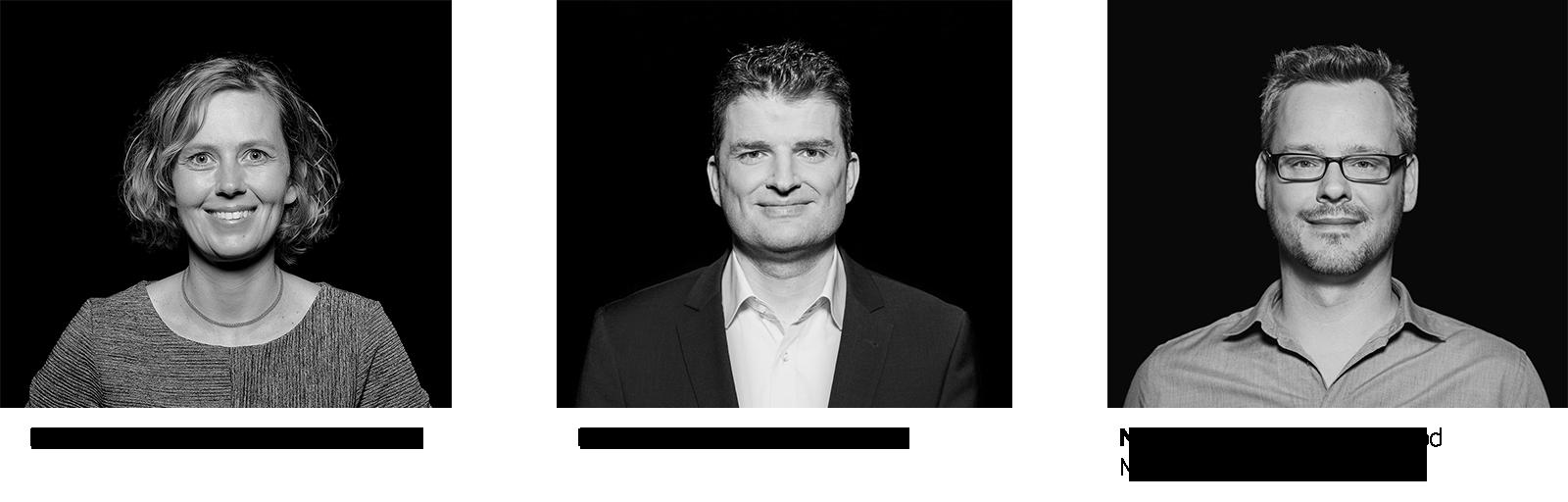 Kathrin Franck, Standortleiterin Berlin, Rainer Vehns, Gründer und CEO von codecentric und Nick Prosch, Head of Feelgood Management